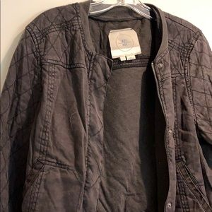 Anthropologie Jackets & Coats - Black linen blend bomber style quilted jacket